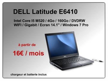 PC portable DELL E6410 à 16€ par mois