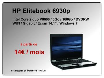 PC portable HP 6930p à 14€ par mois