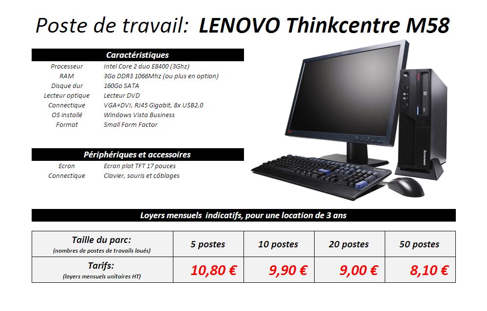 Fiche technique fixe LENOVO M58