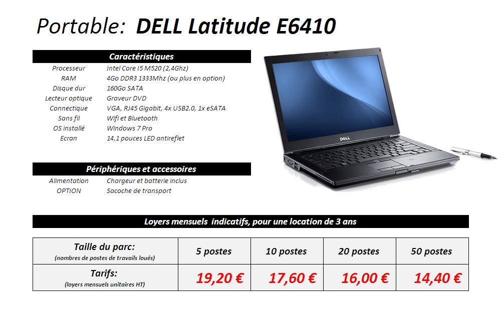 DELL Latittude E6410 à partir de 16€ par mois